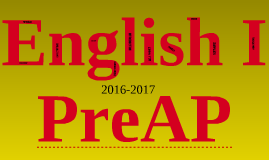 Copy of Welcome to KHS English I PreAP