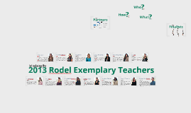 2013 Rodel Exemplary Teachers