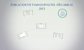 POBLACION EN TAMAULIPAS