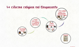 Le riforme religiose nel Cinquecento