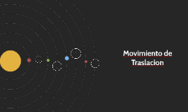 Movimiento de Traslacion