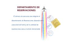DEPTO. DE RESERVACIONES/DIV. CUARTOS