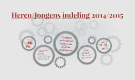 Heren/Jongens indeling 2014/2015