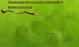 TRABAJOS ESCOLARES: ENSAYOS Y MONOGRAFIAS