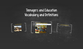 Teenagers and Education