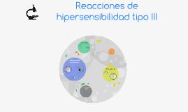 Reacciones de hipersensibilidad tipo III