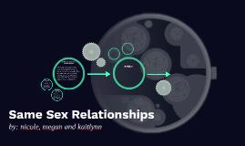 Same Sex Relationships