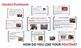 Smoke's Poutinerie Presentation
