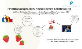 """Zeichnet der Roman """"Der Sommer mit dem Erdbeermädchen"""" ein p"""