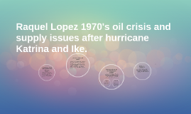 Raquel Lopez 1970's oil crisis and supply issues after hurri