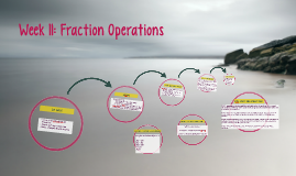 Week 11: Fraction Operations