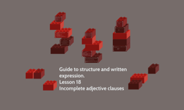 Guide to structure and written expression.