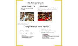 H7: Het parlement
