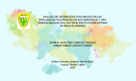 ANALISIS DEL SISTEMA EDUCATIVO BASADO EN LAS INTELIGENCIAS M