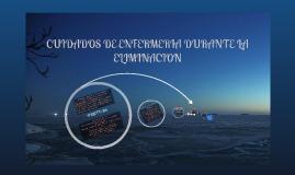 CUIDADOS DE ENFERMERIA DURANTE LA ELIMINACION