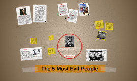 The 5 Most Evil People
