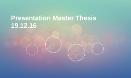 Presentation Master Thesis 19.12.16