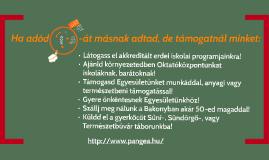 Adó 1% a Pangeának 2015