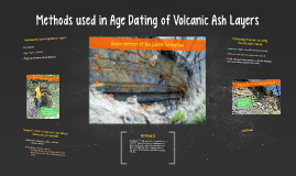 from Enrique radiometric dating volcanic ash
