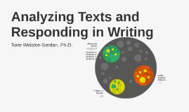 Analyzing Texts