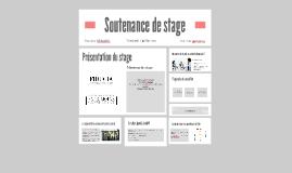 Soutenance de stage