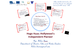 Hugo Haas: Hollywood's Independent Pioneer