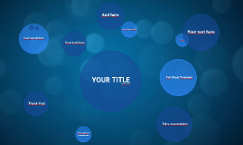 Copia de Blue Circles - Free Prezi Template
