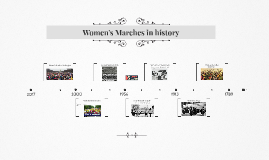 Women's Marches in History