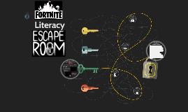 Fornite Literacy Escape Room