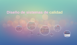 Diseño de sistemas de calidad