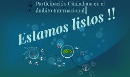 Participación Ciudadana en el ámbito Internacional.