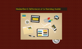 Copy of Similarities and Differences of Co-teaching Models