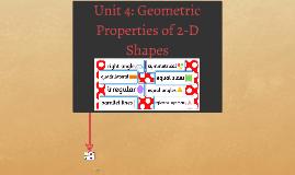 Grade 7/8 Math - Unit 4: Geometric Porperties of 2-D Shapes