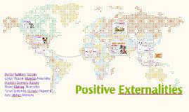 Positve externalities of production
