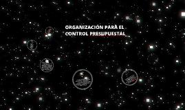 Copy of organización para el control presupuestal