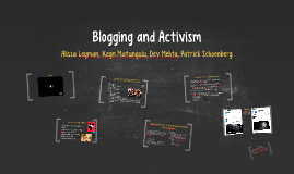 Blogging and Activism
