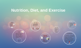 Nutrition, Diet, and Exercise
