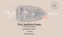 Text Analysis Essay.