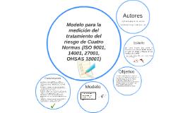 Modelado del Tratamiento de Riesgos Medición Modelo bajo Cua
