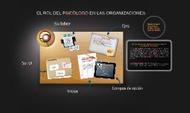 EL ROL DEL PSICOLOGO DE LAS ORGANIZACIONES