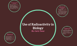 Use of Radioactivity in Biology
