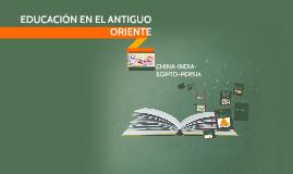Copy of ESBOZO DE LA HISTORIA DE LA EDUCACIÓN EN EL ANTIGUO ORIENTE