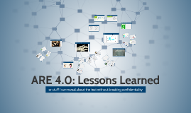 ARE: Lessons Learned