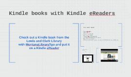 Kindle books with Kindle eReaders