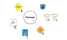 CHAMPs: Warmups