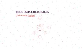 RECURSOS CULTURALES