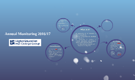 Annual Monitoring 2016/17