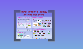 Introduction to Ecology bio111