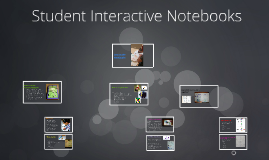 Student Interactive Notebooks