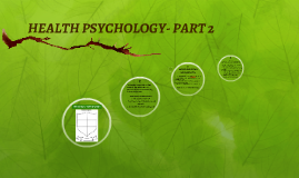 HEALTH PSYCHOLOGY- PART 2